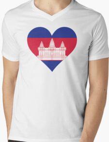 A heart for Cambodia Mens V-Neck T-Shirt