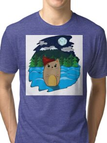 Cat in the forest Tri-blend T-Shirt