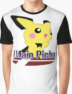 I Main Pichu - Super Smash Bros Melee Graphic T-Shirt