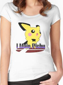 I Main Pichu - Super Smash Bros Melee Women's Fitted Scoop T-Shirt
