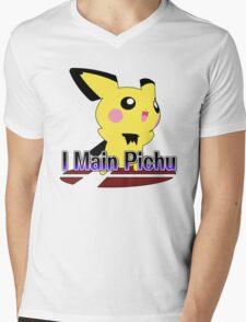 I Main Pichu - Super Smash Bros Melee Mens V-Neck T-Shirt