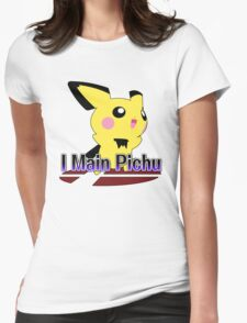 I Main Pichu - Super Smash Bros Melee Womens Fitted T-Shirt