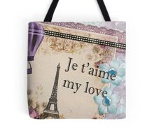 Paris Je t'aime vintage retro art Tote Bag