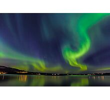 Northern Light in north Sweden Photographic Print