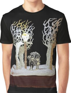 Tumnus and Lucy Narnia book sculpture Graphic T-Shirt