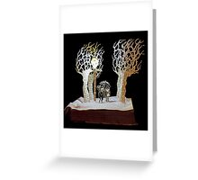 Tumnus and Lucy Narnia book sculpture Greeting Card