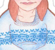Beanie Girl Sticker