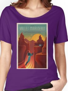 Vintage SpaceX Valles Marineris Mars Travel Women's Relaxed Fit T-Shirt