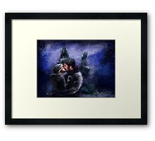 A Quiet, Snowy, Moment Framed Print