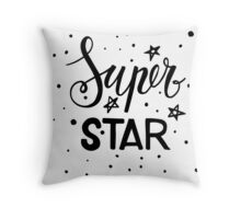 Super star. Throw Pillow
