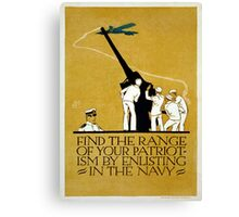 Vintage World War II Navy Recruitment Patriotic Canvas Print