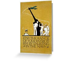 Vintage World War II Navy Recruitment Patriotic Greeting Card