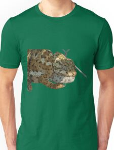 Chameleon Hanging On A Wire Fence Vector Unisex T-Shirt
