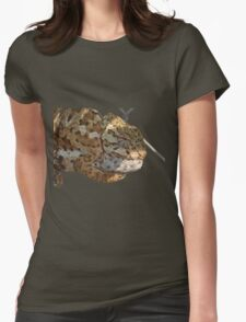 Chameleon Hanging On A Wire Fence Vector T-Shirt