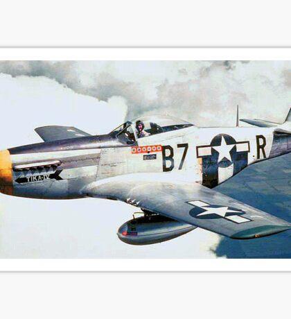Vintage World War II Air Force P-51D Mustang Sticker