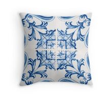 Traditional Portuguese glazed tiles Throw Pillow