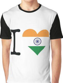 I Love India Graphic T-Shirt