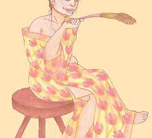 Wheat Woman by Holzilla