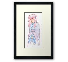 Lavendar Mist Kimono Maiden Framed Print