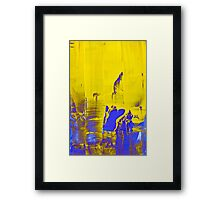 Yellow sunset reflection Framed Print