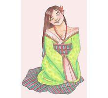 Green Kimono Lady Photographic Print