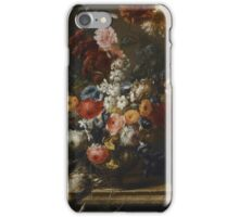 Franz Werner von Tamm, A STILL LIFE OF FLOWERS IN AN URN ON A MARBLE LEDGE WITH A BIRD iPhone Case/Skin
