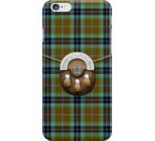Clan Thomson Tartan And Sporran iPhone Case/Skin