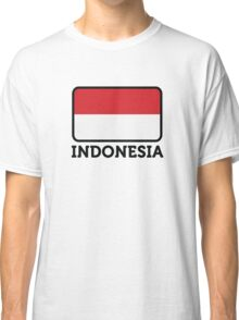 National flag of Indonesia Classic T-Shirt