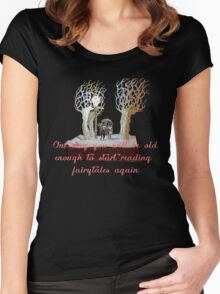 CS Lewis Narnia fairytale quote Women's Fitted Scoop T-Shirt