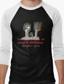 CS Lewis Narnia fairytale quote Men's Baseball ¾ T-Shirt