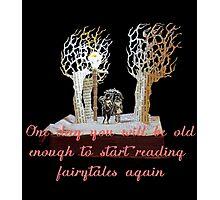 CS Lewis Narnia fairytale quote Photographic Print