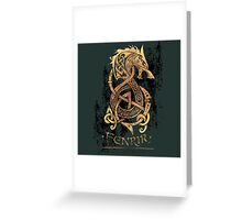 Fenrir: The Nordic Monster Wolf Greeting Card