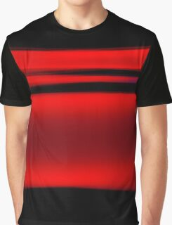 Abstract Red Light Strokes Graphic T-Shirt