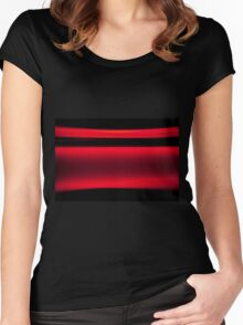 Abstract Red Light Strokes Women's Fitted Scoop T-Shirt