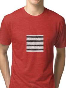 Black and white seamless background of stripes and circles Tri-blend T-Shirt
