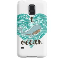 i love ocean (happy whale) Ocean Samsung Galaxy Case/Skin