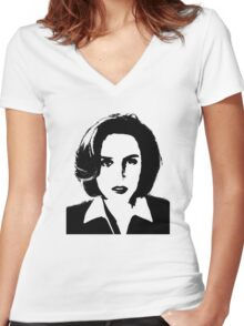 X-Files - Dana Scully Women's Fitted V-Neck T-Shirt