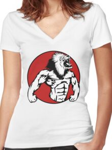 Iron Lion Women's Fitted V-Neck T-Shirt