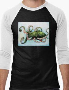 Green Octopus Men's Baseball ¾ T-Shirt