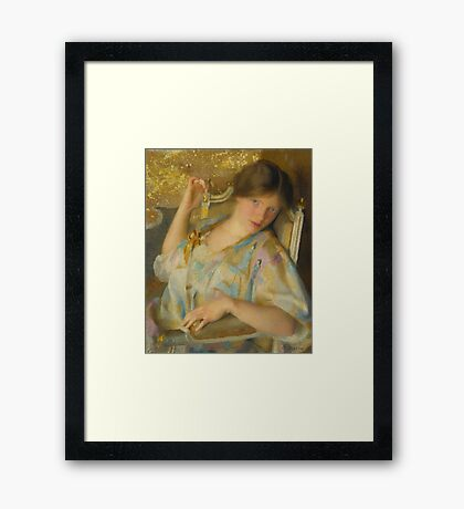 William McGregor Paxton NONCHALANCE Framed Print