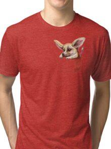 Pocket fennec fox Tri-blend T-Shirt