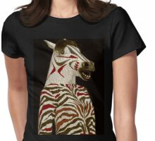 Miss Zebra Dressed In Her Best!  Womens Fitted T-Shirt