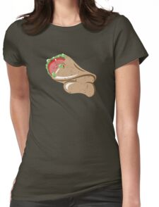 Sleepy Taco Man Womens Fitted T-Shirt