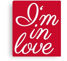 I am in love lettering Canvas Print