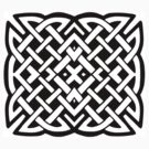 Celtic Knot square design by Tony  Bazidlo