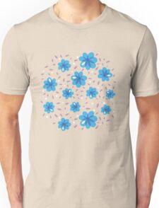 Gentle Blue Flowers Pattern Unisex T-Shirt