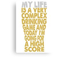 Drinking Game Canvas Print