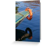 lifebelt on boat Greeting Card