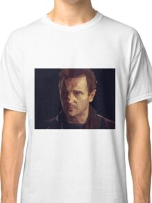 Liam Neeson Low-Poly Classic T-Shirt