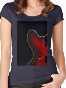Guitar Red Wedge Women's Fitted Scoop T-Shirt